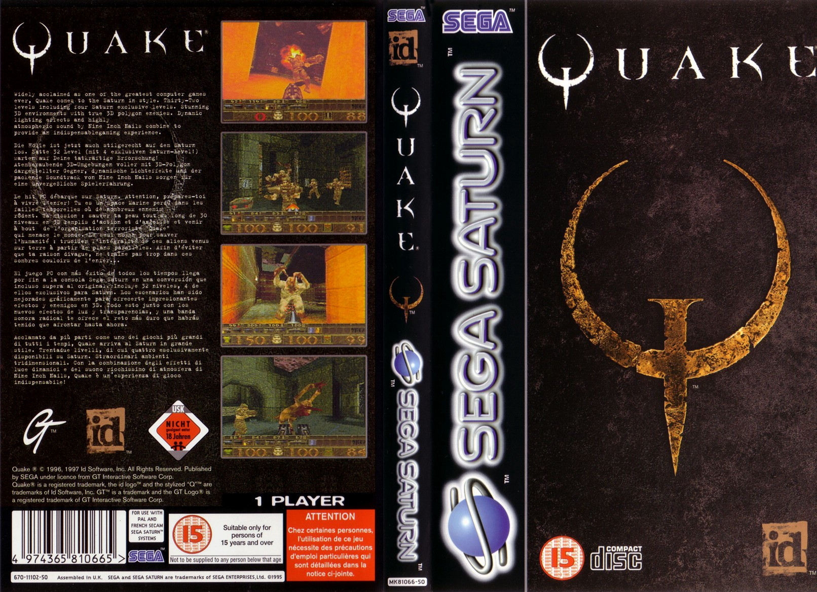 Quake De Sega Saturn Foro Vandal